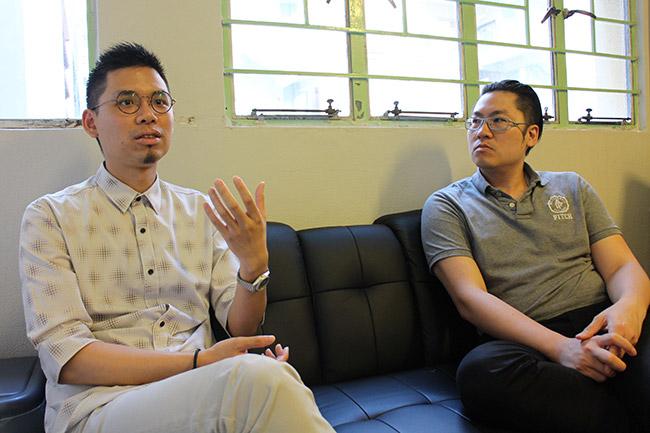 Pasu Ng(左)與Arnold Leung