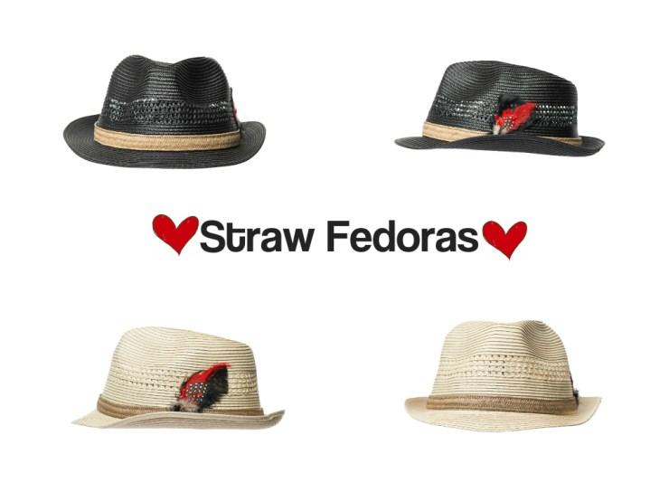 Straw Fedoras