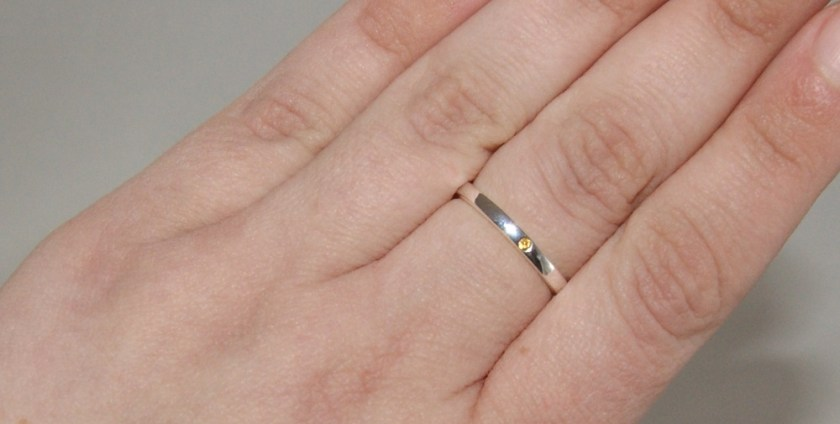Silver Stacking Birthstone Rings Lily Charmed Citrine