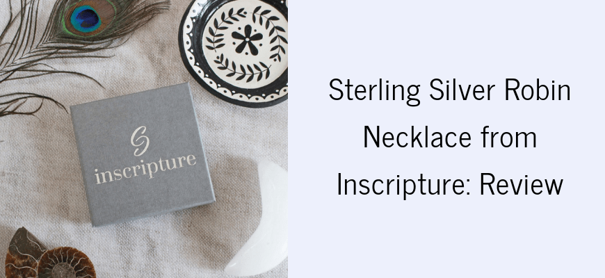 Sterling Silver Robin Necklace from Inscripture Review