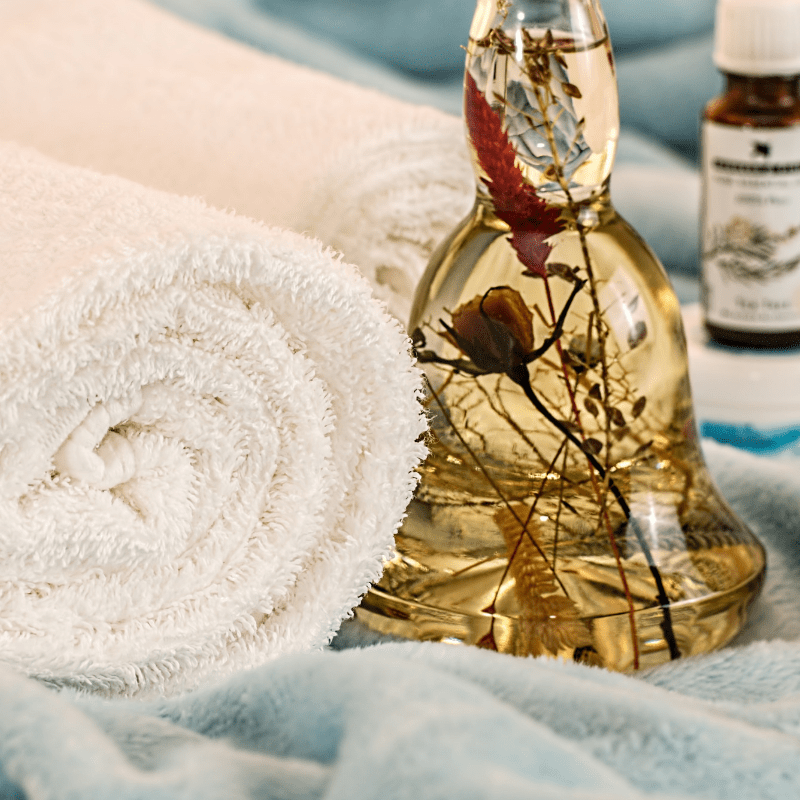 Towels and Essential Oils