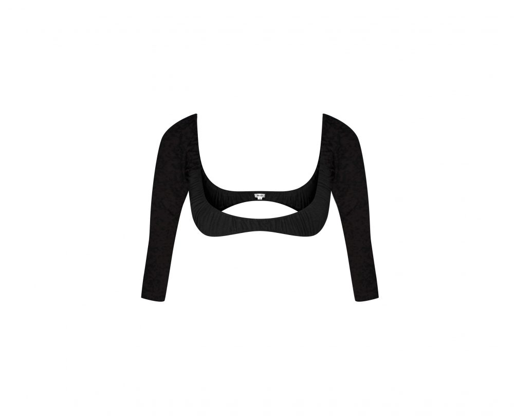 3/4 Length Stretch Fitted Wingz in Black