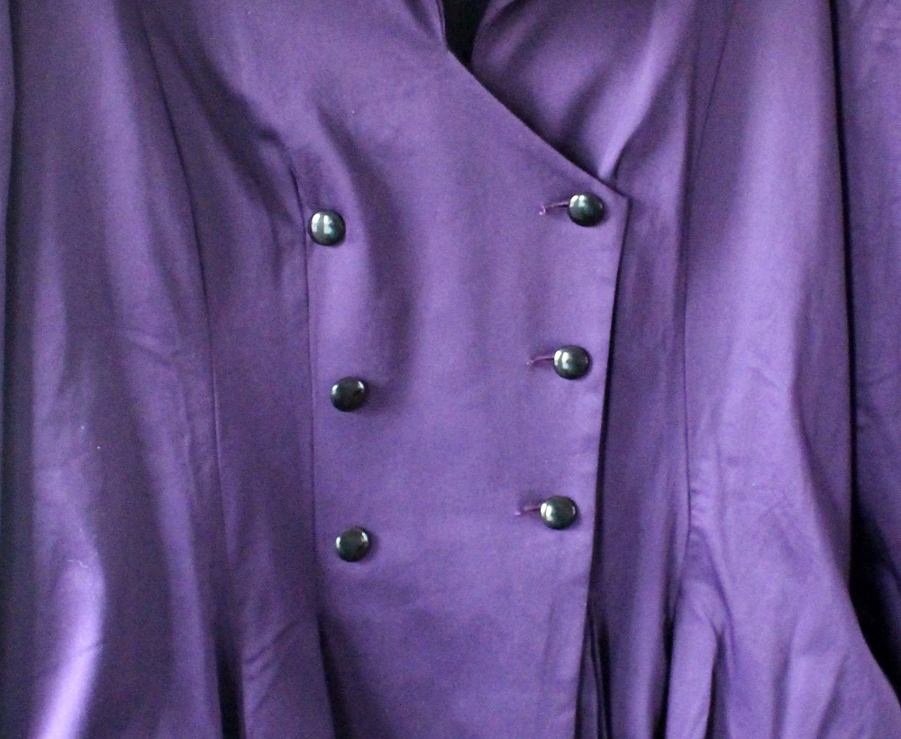 Chic Star Plus Size Purple Jacket Close up of buttons