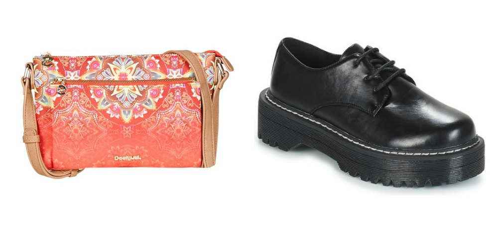 Desigual BOLS POLARIS TOULOUSE Pink Coolway PISSTO Black