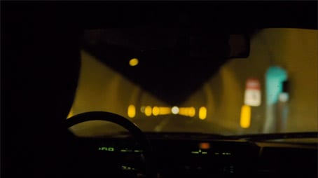The way out...; still from the film 'The American'