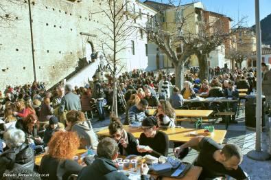 Polenta feast at Sagra della Polenta Ragnosa at Pettorano sul Gizio