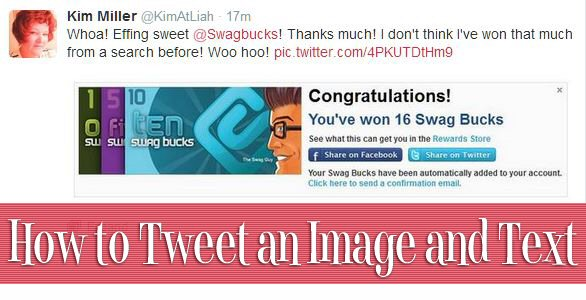 How to Tweet an Image and Text