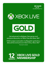 A Year of XBox Live Gold from GameStop