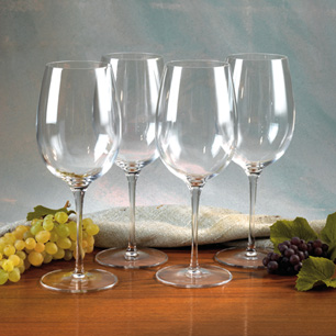Luigi Bormioli Crystal Wine Glasses (Sonyx 4-Pack) - Wine of the Month Club - $47.99