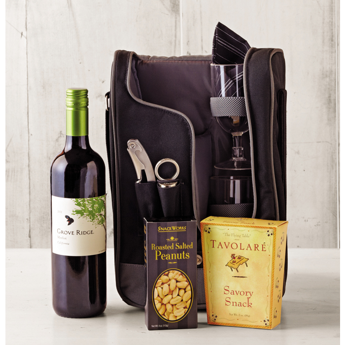 Heading Out Gift Basket - Wine of the Month Club - $72.00