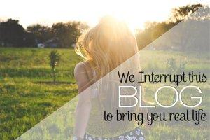 We Interrupt This Blog…