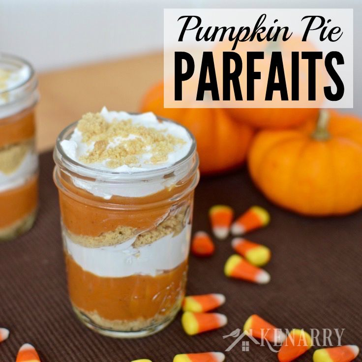 Pumpkin Pie Parfaits from Kenarry - Sunday's Best Week 45 Featured Blogger