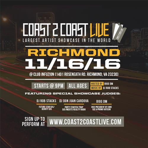 Coast 2 Coast Live at Club Infuzion in Richmond 11/16/2016