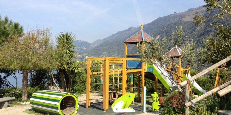 A creative playground space in Manarola, Cinque Terre
