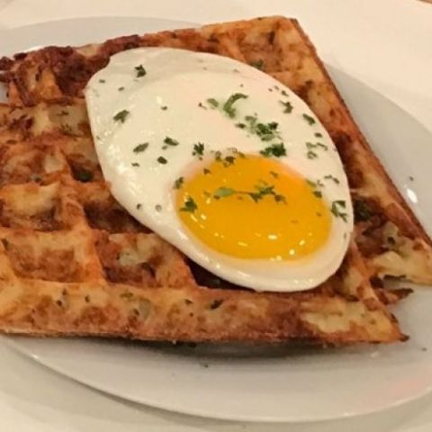 Herbed Parmesan Hash Brown Waffle Recipe from Chef George Duran
