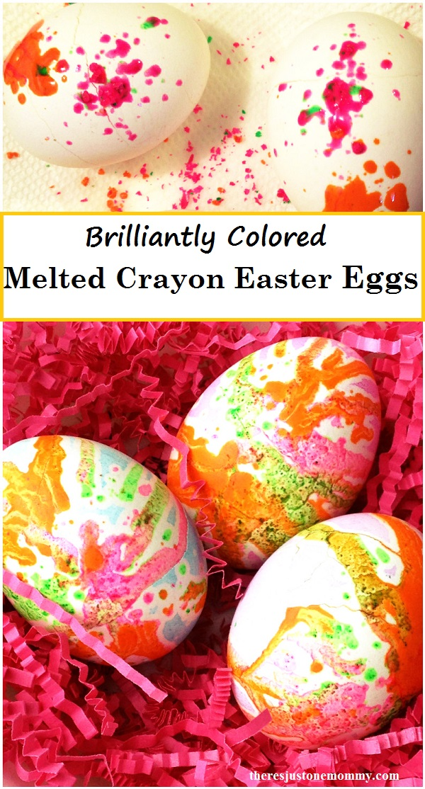 Week 118 Sunday's Best Featured Post - Melted Crayon Easter Eggs from There's Just One Mommy