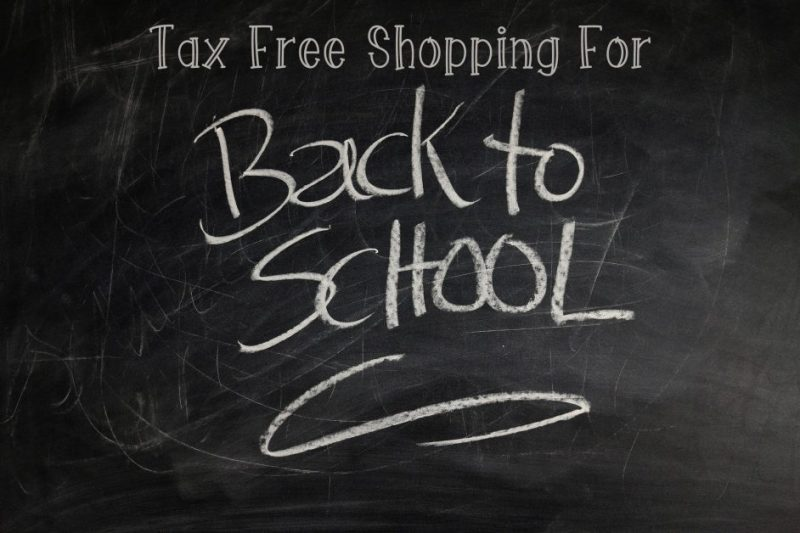 2017 Back to School Tax Free Holidays