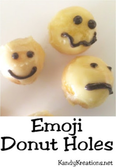 Week 136 Sunday's Best Featured Post - Emoji Donut Holes from Kandy Kreations