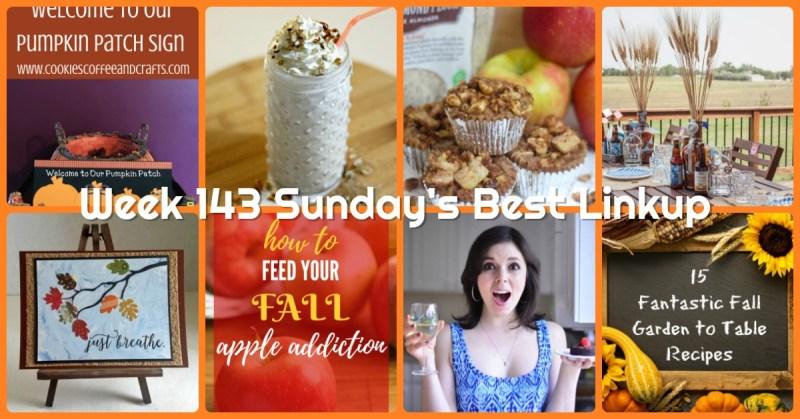 Week 143 Sunday's Best Linkup