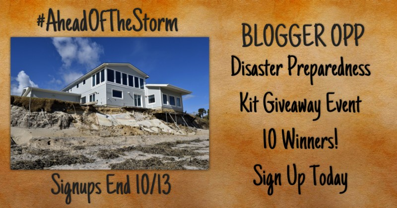 Blogger Opp: Disaster Preparedness Kit Giveaway