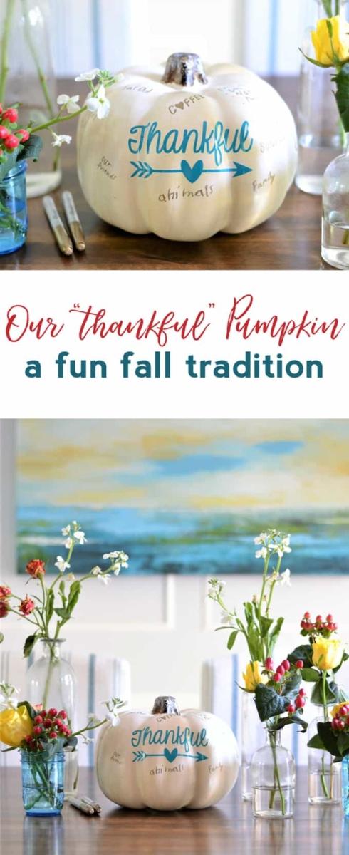 Week 150 - Thankful Pumpkin from Burlap and Blue