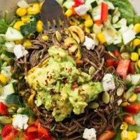 Southwestern Black Bean Spaghetti from Lee Tilghman at Lee from America