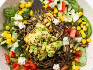 Southwestern Black Bean Spaghetti from Lee Tilghman at Lee from America