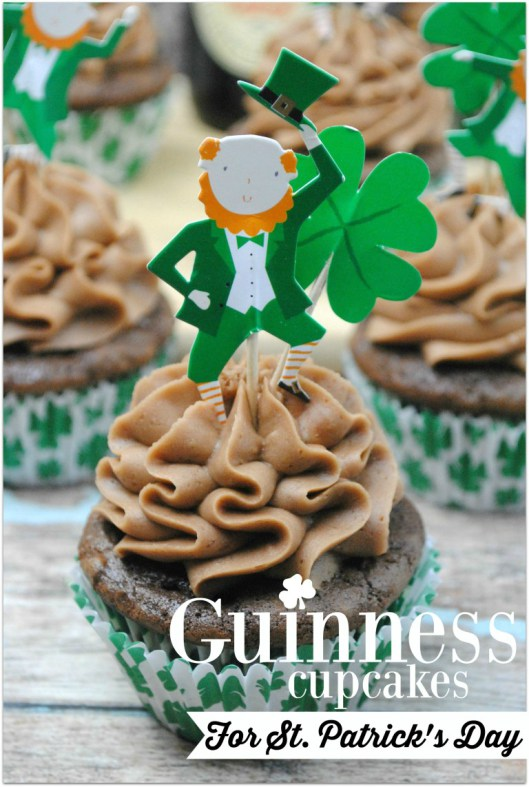 Week 163 Guiness Cupcakes for St. Patrick's Day from Kelly Stilwell