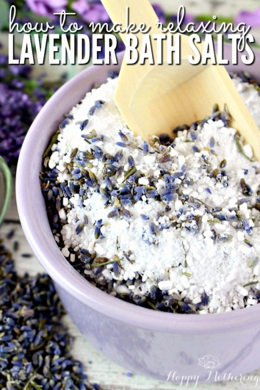 Week 163 How to Make Relaxing Lavender Bath Salts from Happy Mothering