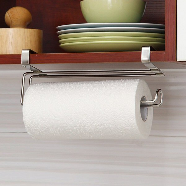 Pano Updated Size Paper Towel Holder Under Cabinet Stainless Steel Paper Rolls Rack OrganizerPano Updated Size Paper Towel Holder Under Cabinet Stainless Steel Paper Rolls Rack Organizer