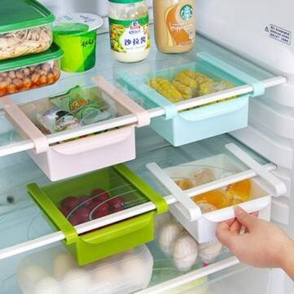 Plastic Kitchen Refrigerator Fridge Storage Rack Freezer Shelf Holder Kitchen Organization by MiMi