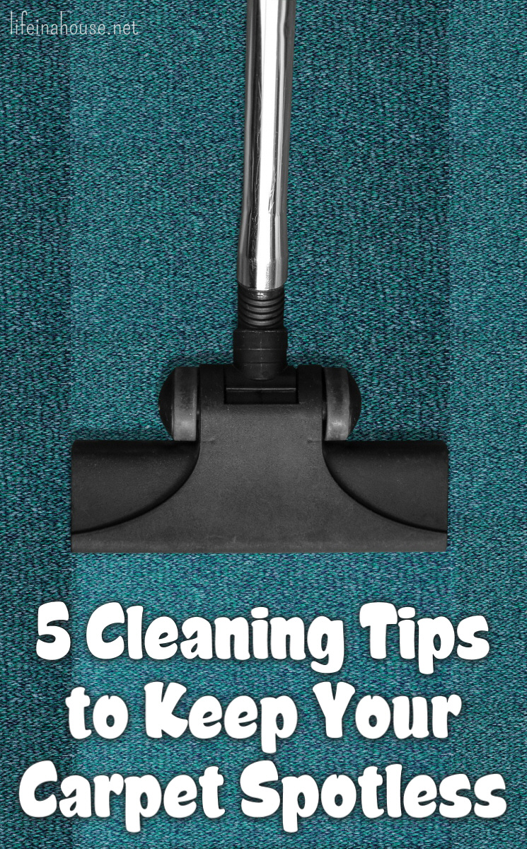5 Tips to Keep Your Carpet Spotless