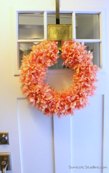 Week 169 DIY Spring Wreath from Domestic Deadline #spring #DIYwreath