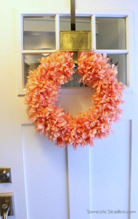 Week 169 DIY Spring Wreath from Domestic Deadline #spring #DIYwreath