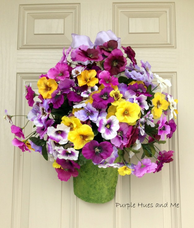 Week 169 Recycled Cereal Box Spring Wreath from Purple Hues and Me #spring #DIYwreaths #upcycle