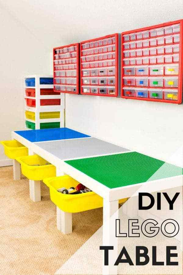 Week 170 DIY Lego Table from The Handy Man's Daughter #DIY #lego #table #shelves
