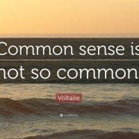 Common Sense Is Not So Common