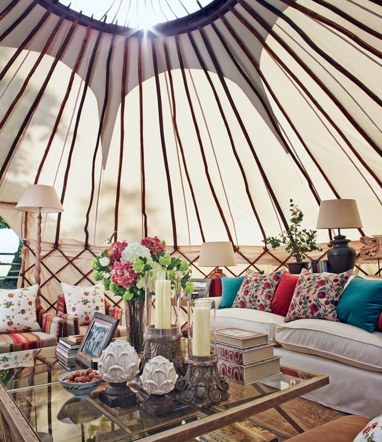 Glorious #glamping #livingroom