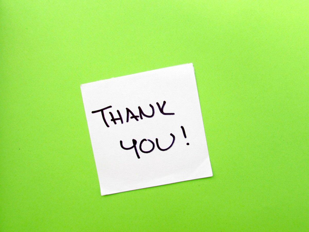Send thank you notes