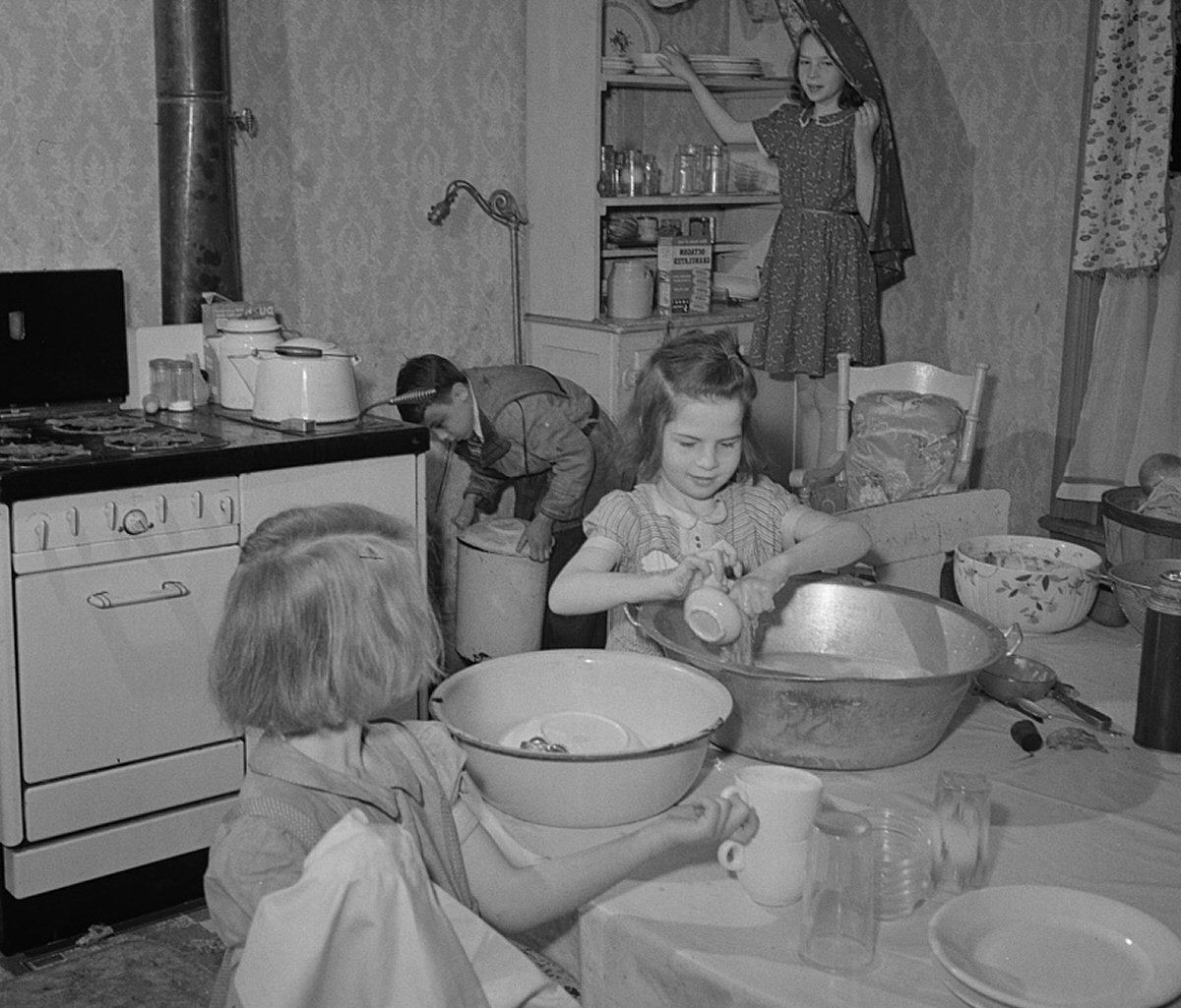 Children Helping with Housework