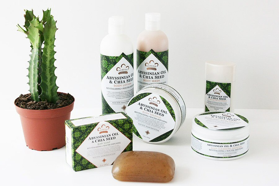 Nubian Heritage Bath and Body Collection - Abyssinian Oil and Chia Seed with Amaranth Extract and Ginseng