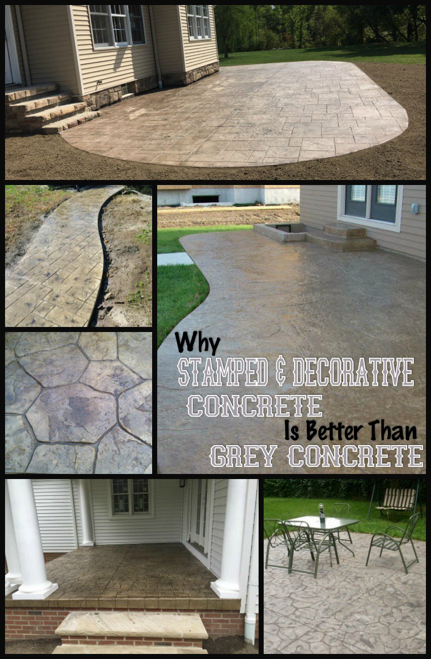 Stamped and Decorative Concrete Is Better Than Grey Concrete
