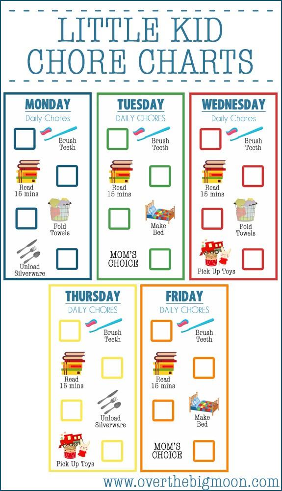 Fun Chore Charts for Kids