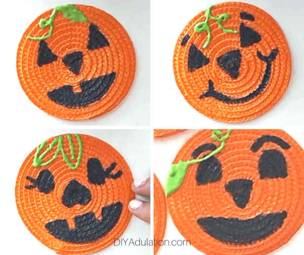 Week 194 - Pumpkin Face Coasters from DIY Adulation
