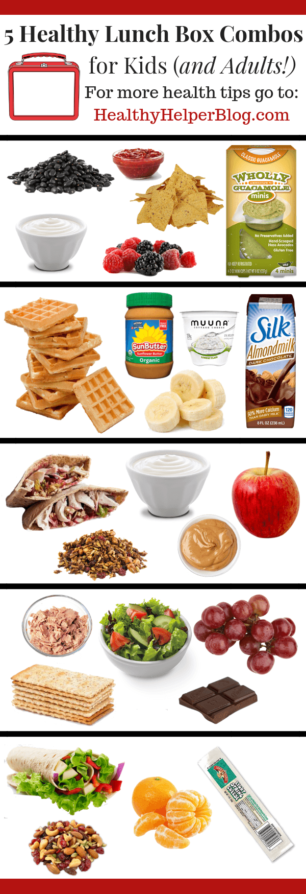 Week 196 - 5 Healthy Lunch Box Combos for Kids and Adults from Healthy Helper Blog