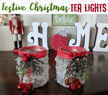 Week 208 - Festive Christmas Tea Lights from Grandma Ideas