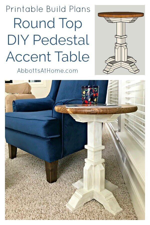 Week 211 - DIY Pedestal Accent Table from Abbots at Home