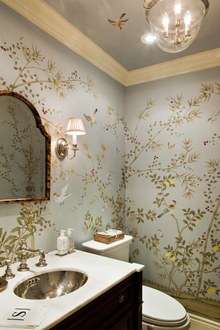 floral pattern wallpaper interior design trends