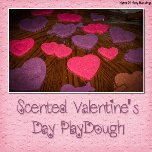 Week 212 - Scented Valentine's Day Playdough from Mama of Many Blessings