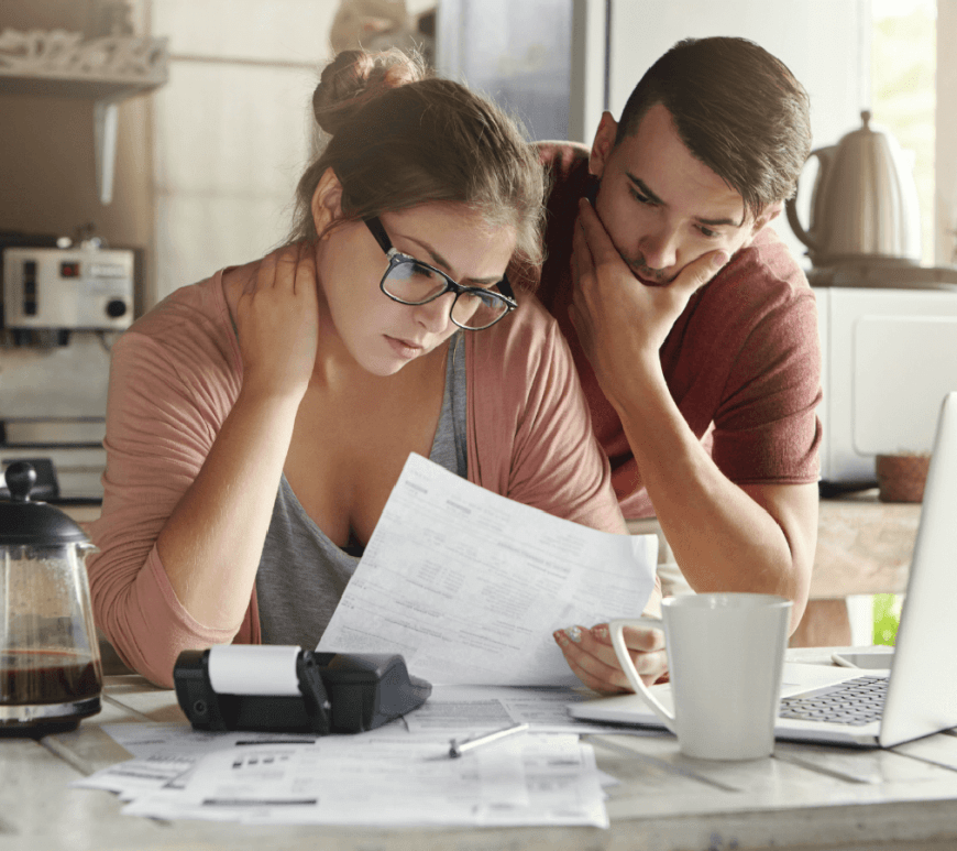 Couple with Money Anxiety Disorder